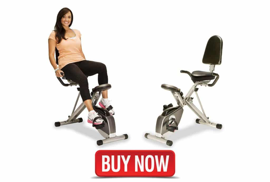 Exerpeutic 400XL Folding recumbent bike for home use.
