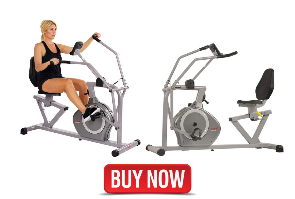 recumbent exercise bike with moving arms