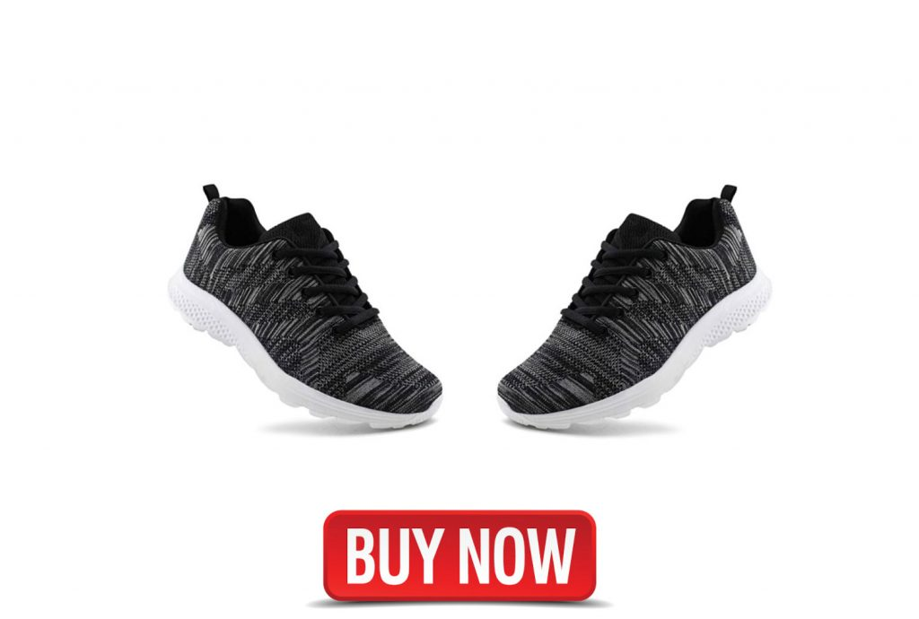 Jabasic Women's Breathable Knit Sports Running Shoes Casual Walking Sneaker, elliptical bike shoe