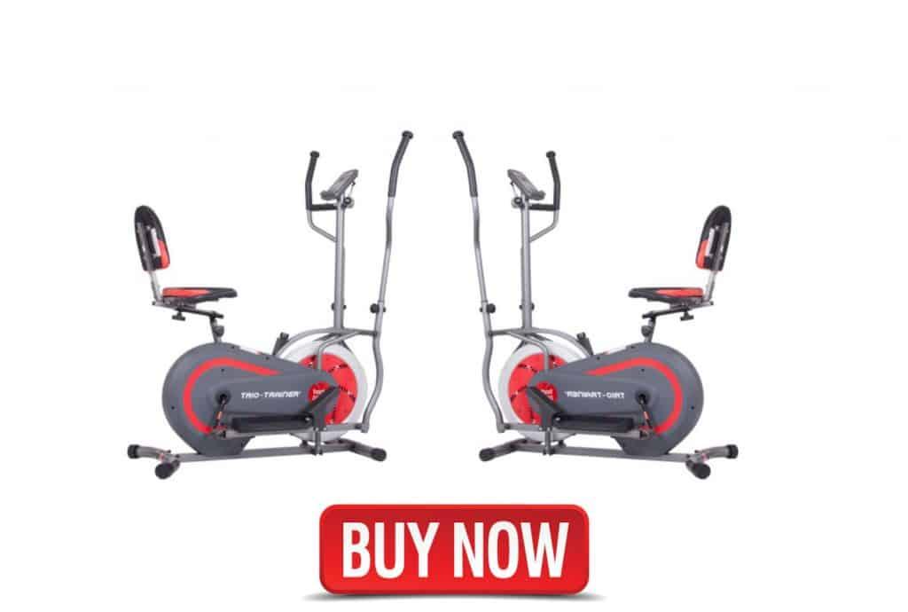Body Power 3-in-1 Exercise Machine,Elliptical and Upright/Recumbent Bike BRT5088