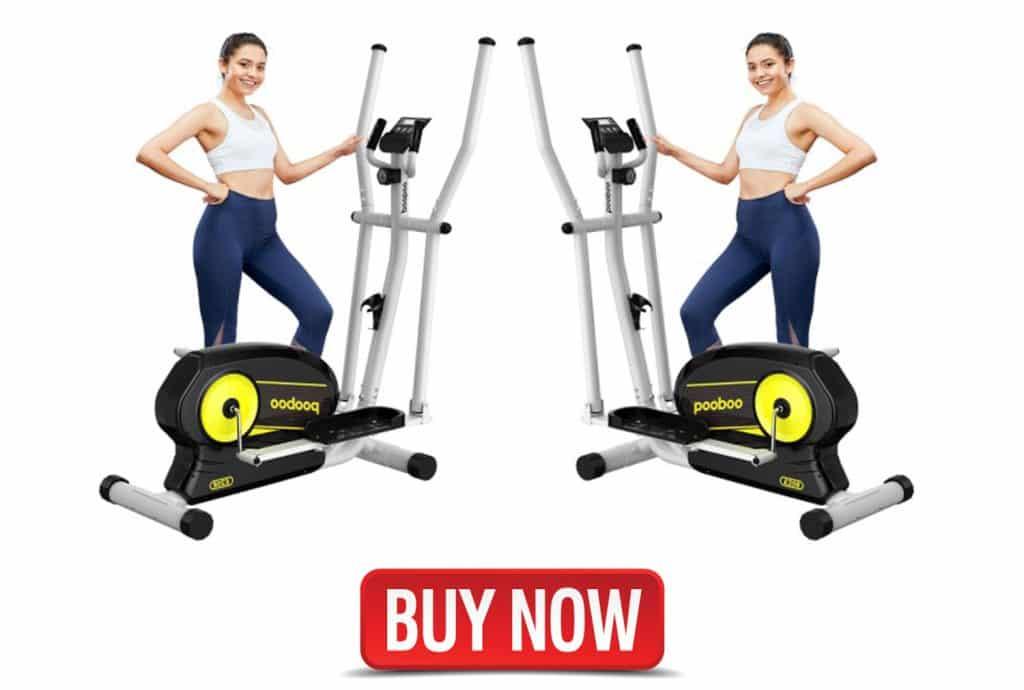 pooboo elliptical trainer magnetic machine