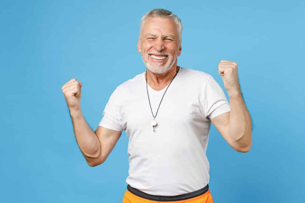 Excited senior for choosing a right recumbent bike