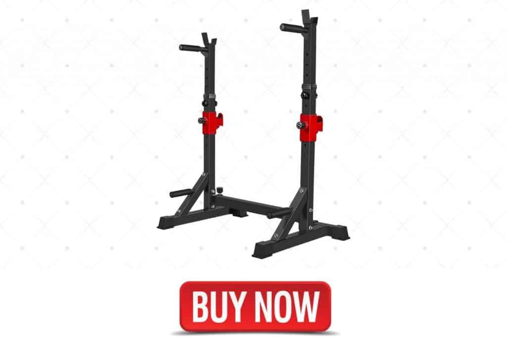 AKYEN Adjustable Barbell and Squat Rack