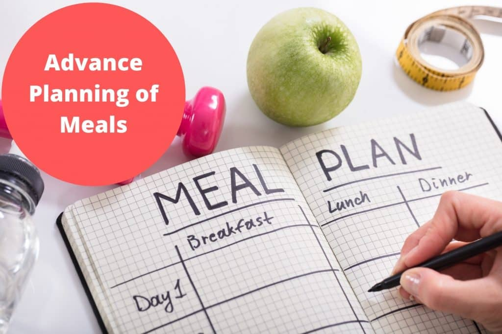 Advance Planning of Meals