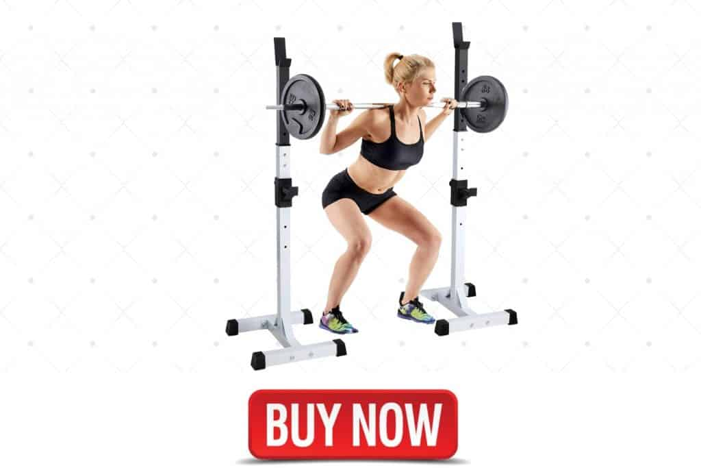 Amikadom Adjustable Home Gym Squat Rack