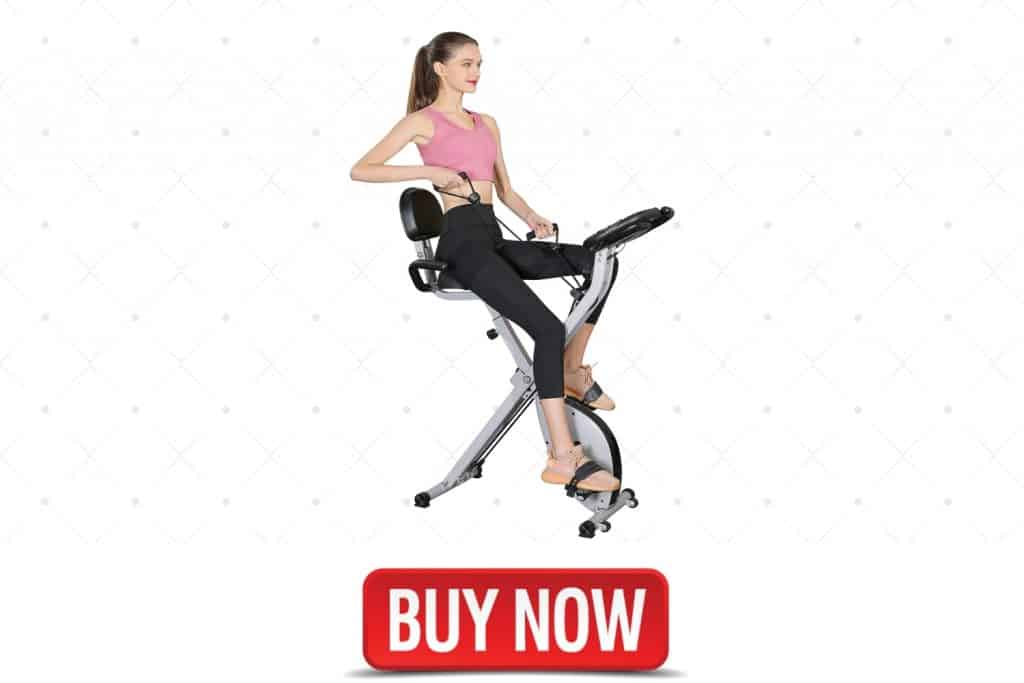 Foldable Magnetic Upright Recumbent Portable Fitness Cycle